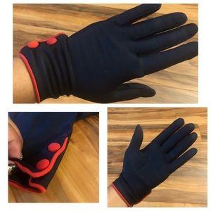 Vintage Mod Gloves, 1960's Colorblock Gloves